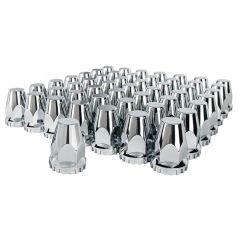 33mm Chrome Tapered Nut Cover - Thread On 60PK