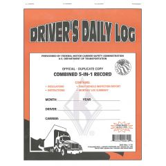 5-in-1 Driver's Daily Log with DVIR (Carbon Copy)