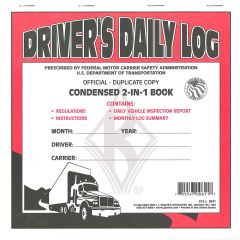 2-in-1 Driver's Daily Log Book (Carbon Copy)