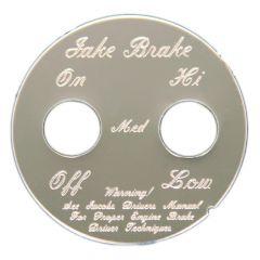 Round 2 Switch Engine Brake Dash Plate
