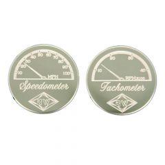 Speedometer and Tachometer Gauge Emblems