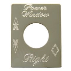Power Window Right Switch Plate