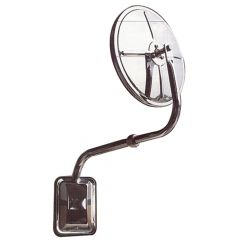 "Pod Mount 8"" Bubble Convex Curved Arm Mirror"