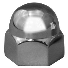 "1/2"" Chrome Zinc Acorn Nut Cover - Push On"