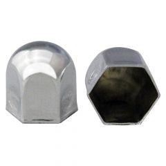 "1 1/4"" Chrome Steel Standard Nut Cover - Push On"