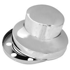 Chrome Hide-Away Rear Axle Cover Stud-Pilot Aluminum