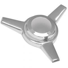 Chrome Knock-Off Spinner 3 Bar Straight