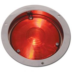 """4"""" Round Red Light with Chrome Die-Cast Housing"""