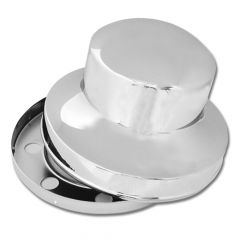 Chrome Hide-Away Rear Axle Cover Unimount 10 Lug