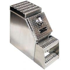"12"" Diamond Plate Aluminum Step Tool Box"