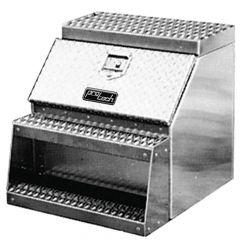 "18"" Diamond Plate Aluminum Step Tool Box"