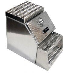 "36"" Diamond Plate Aluminum Step Box"