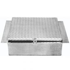 "24""L x 22""H x 10""D Aluminum In-Frame Tool Box"