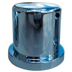 """1-1/8"""" or 1-1/16"""" Chrome Plastic Top Hat Nut Cover - Push On"""