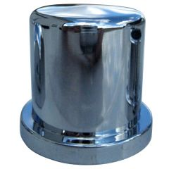 """5/8"""" Chrome Plastic Top Hat Nut Cover - Push On"""