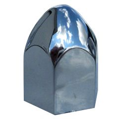 18mm Chrome Plastic Bullet Nut Cover - Push On