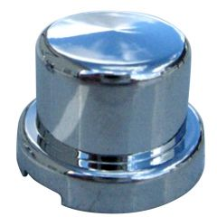 "1/2"" Chrome Plastic Top Hat Nut Cover - Push On"
