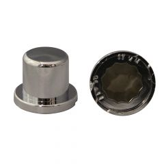 """11/16"""" or 17mm Chrome Plastic Top Hat Nut Cover"""