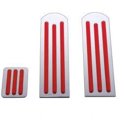 Peterbilt Red Chrome Pedal Set