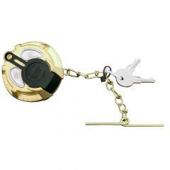 """2-5/16"""" Brass Locking Fuel Cap Non-Vented"""