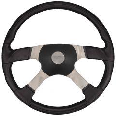 """4 Spoke Trucker 4 Poly Steering Wheel 18"""""""