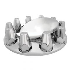 Chrome ABS Front Axle Covers with 33mm Nut Covers