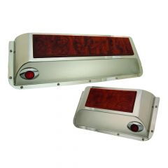 Peterbilt Stainless & Rosewood Door Pockets M3 LED