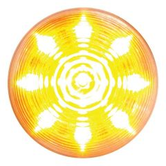 "2"" Amber/Clear 9 LED Beehive Marker Light"