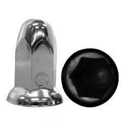 33mm Chrome Steel Bullet Nut Cover - Push On