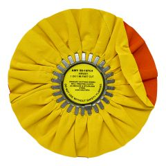 "Zephyr 10"" Yellow Fast Cut Buffing Wheel"