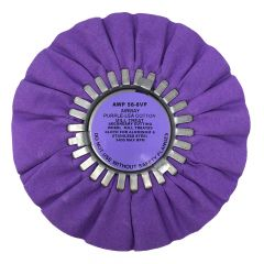 "Zephyr 8"" Purple Cotton Mill Treated Buffing Wheel"