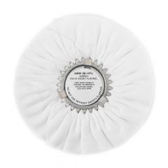 "Zephyr White Flannel 10"" Buffing Wheel"