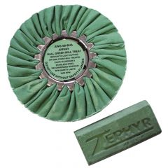 "Zephyr Green 8"" Buffing Wheel with Green Rouge Bar"