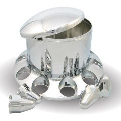 Chrome ABS Rear Axle Cover with 33mm Nut Covers