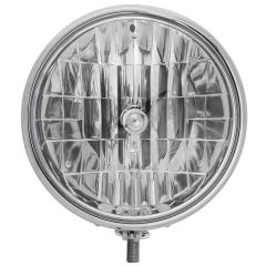 """9-1/2"""" Stainless Headlight Housing with 9007 Bulb"""