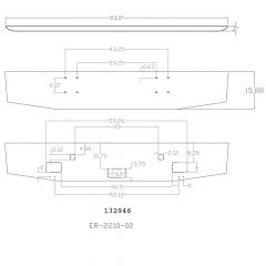 """16"""" Tapered Bumper for International 9900ix 2000 and newer"""