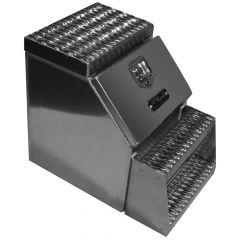 "18"" Smooth Aluminum Step Tool Box"