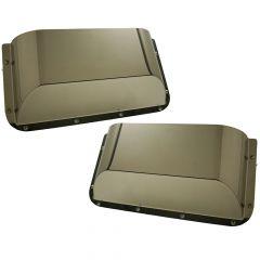 Stainless Steel Short Door Pockets for Peterbilt