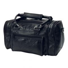 Patchwork Leather Shave Kit Toiletry Bag