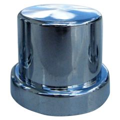 21mm Chrome Plastic Top Hat Nut Cover - Push On
