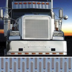 """Freightliner 3/16"""" Vertical Obround Punched Grill"""