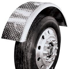 "16""W Diamond Plate Aluminum Lift Axle Fender"
