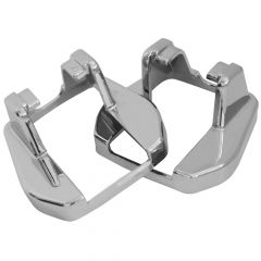 Intl Chrome Hood Latch Base Cover - Cab Base