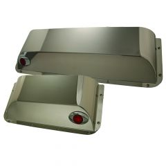 Peterbilt Stainless Steel Door Pockets with M3 Lights