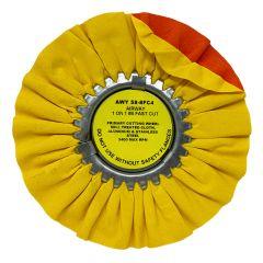 """Zephyr 8"""" Yellow Fast Cut Buffing Wheel"""