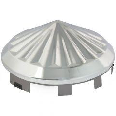 """Universal Chrome Pinwheel Front Hubcap 1"""" Lip"""