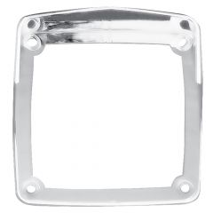 Chrome Bezel with Visor for Square Double Faced