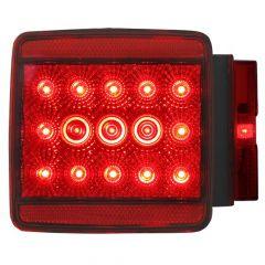 "4-1/4"" Red 15 LED Spyder Stop/Turn/Tail Light"