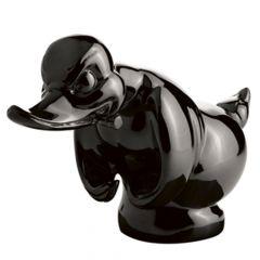 Black Rubber Duck Hood Ornament