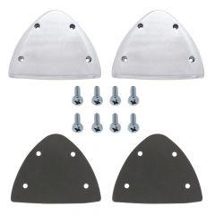 Peterbilt Aluminum Headlight Turn Signal Cover Kit